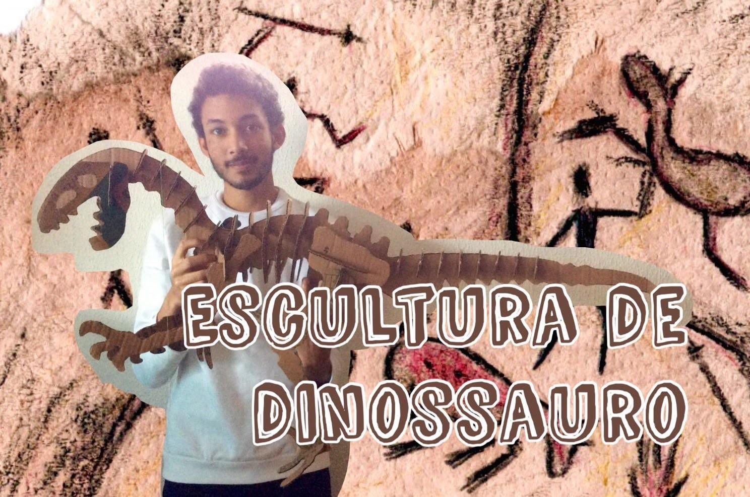 Escultura de dinossauro (DIY)