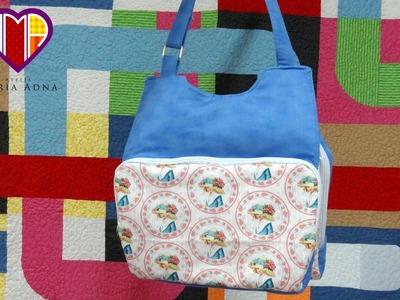 Bolsa em tecidos Tunis - Maria Adna Ateliê - Cursos e aulas em vídeos de bolsas de tecidos