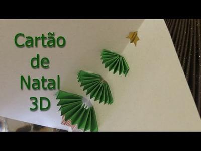 Diy cartão de natal 3D