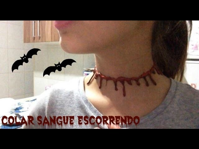 DIY: Colar Sangue Escorrendo