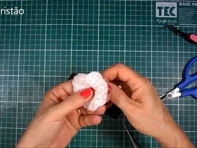 DIY - Como mudar a cor das bailarinas - Flor de papel crepom - Quase sessenta - Didi Tristão