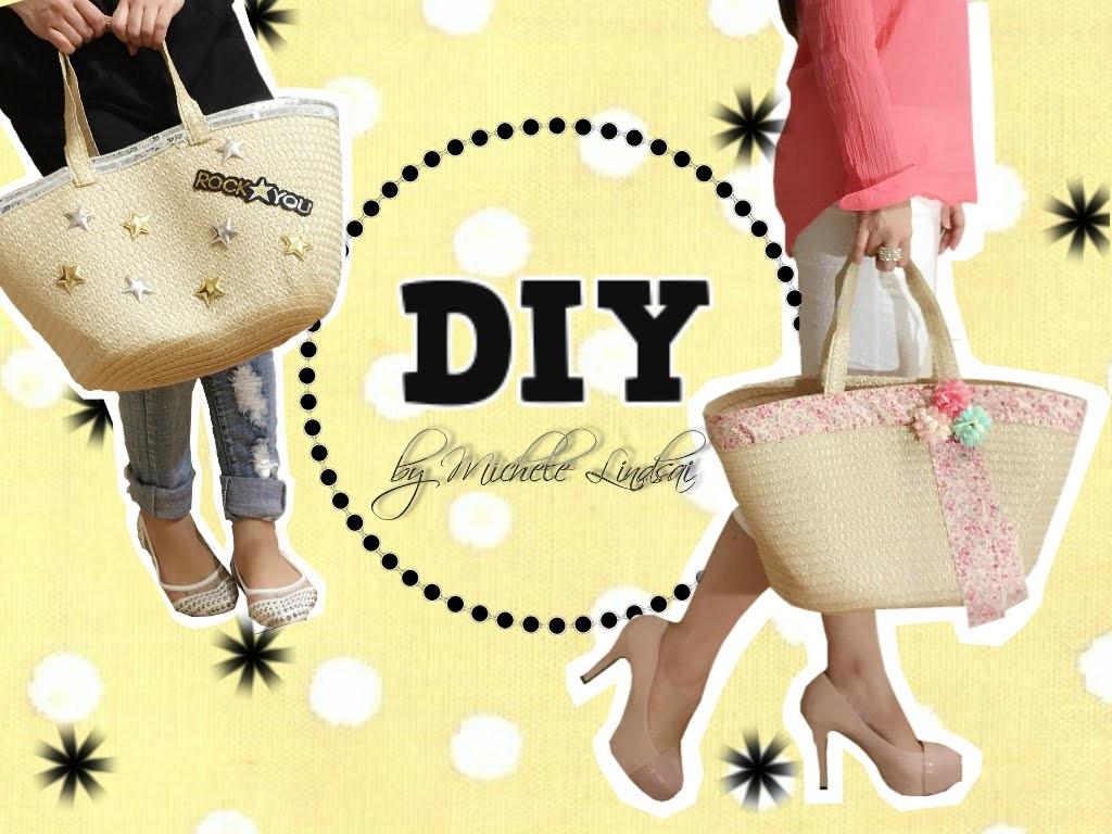 DIY - Estilizando bolsas de palha