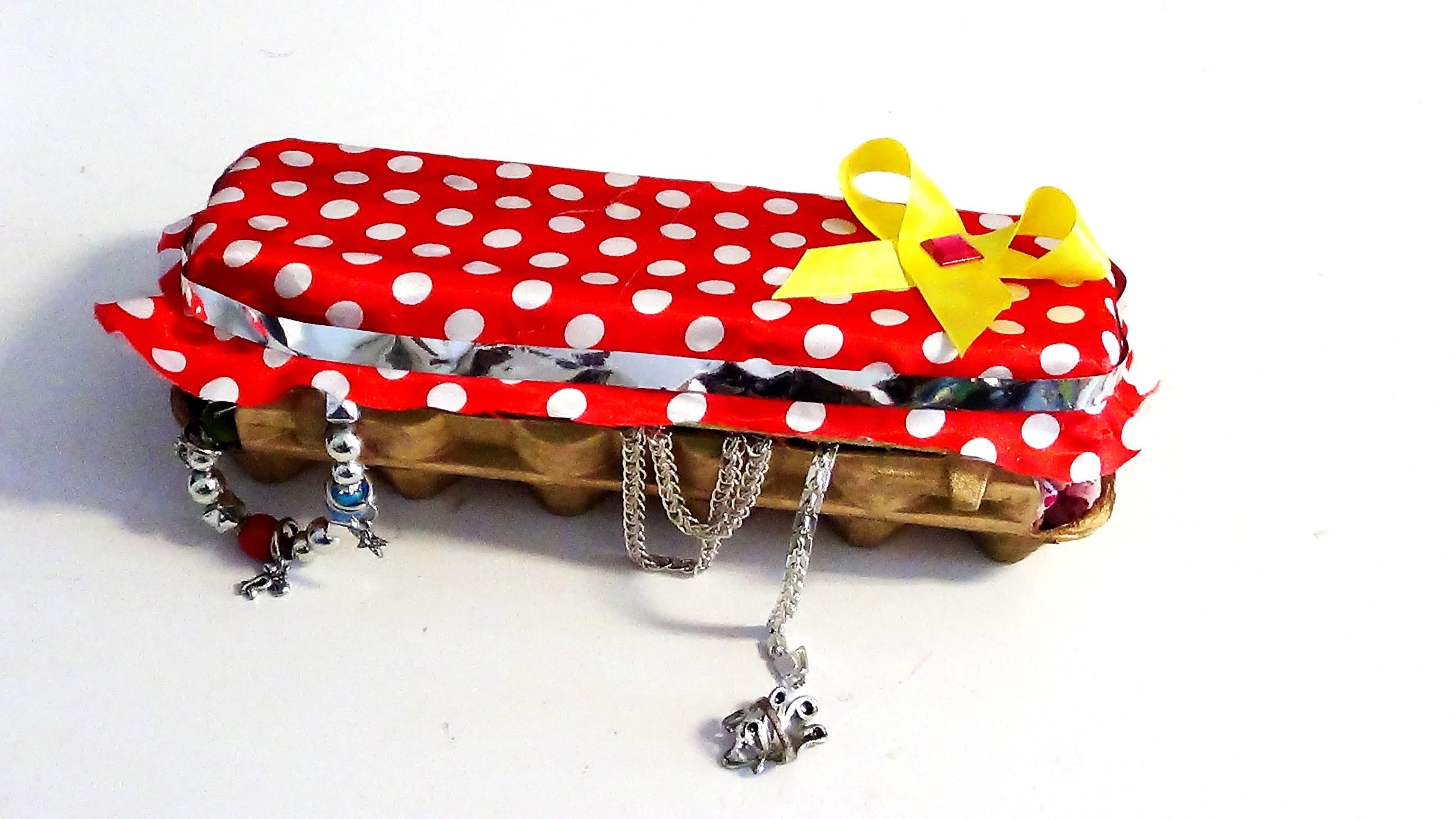 DIY saiba como fazer um lindo porta joias reciclavel  feito com caixas de ovo  nr 15
