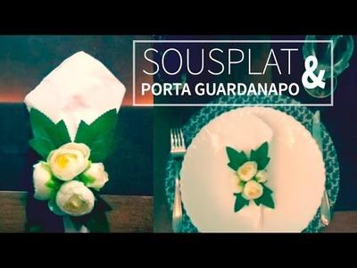 DIY SOUSPLAT e PORTA GUARDANAPO