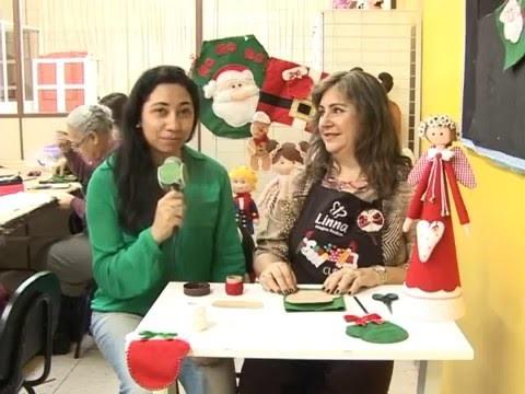 Artesanato de natal no programa Vivi na Tv