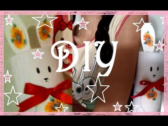 DIY♥Coelho kawaii -Bolsa.Enfeite.Pote de coelho