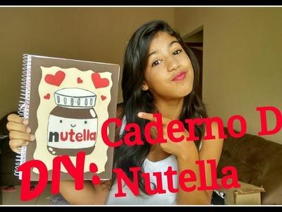 DIY ❤ Customização de caderno de Nutella ❤ Para  2016 - Por Yaa Silva