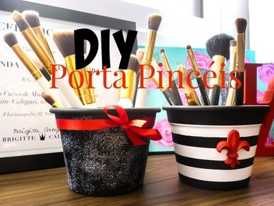 DIY: Porta Pincéis Decorado