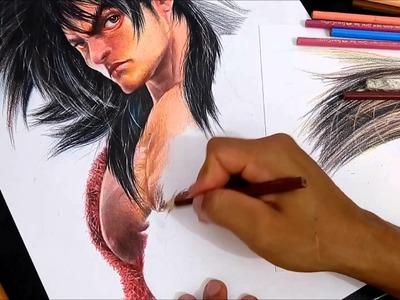 Goku 4 realista speed drawing