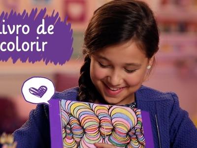Criando livro de colorir com a Lívia Maschio ❤ Mundo da Menina
