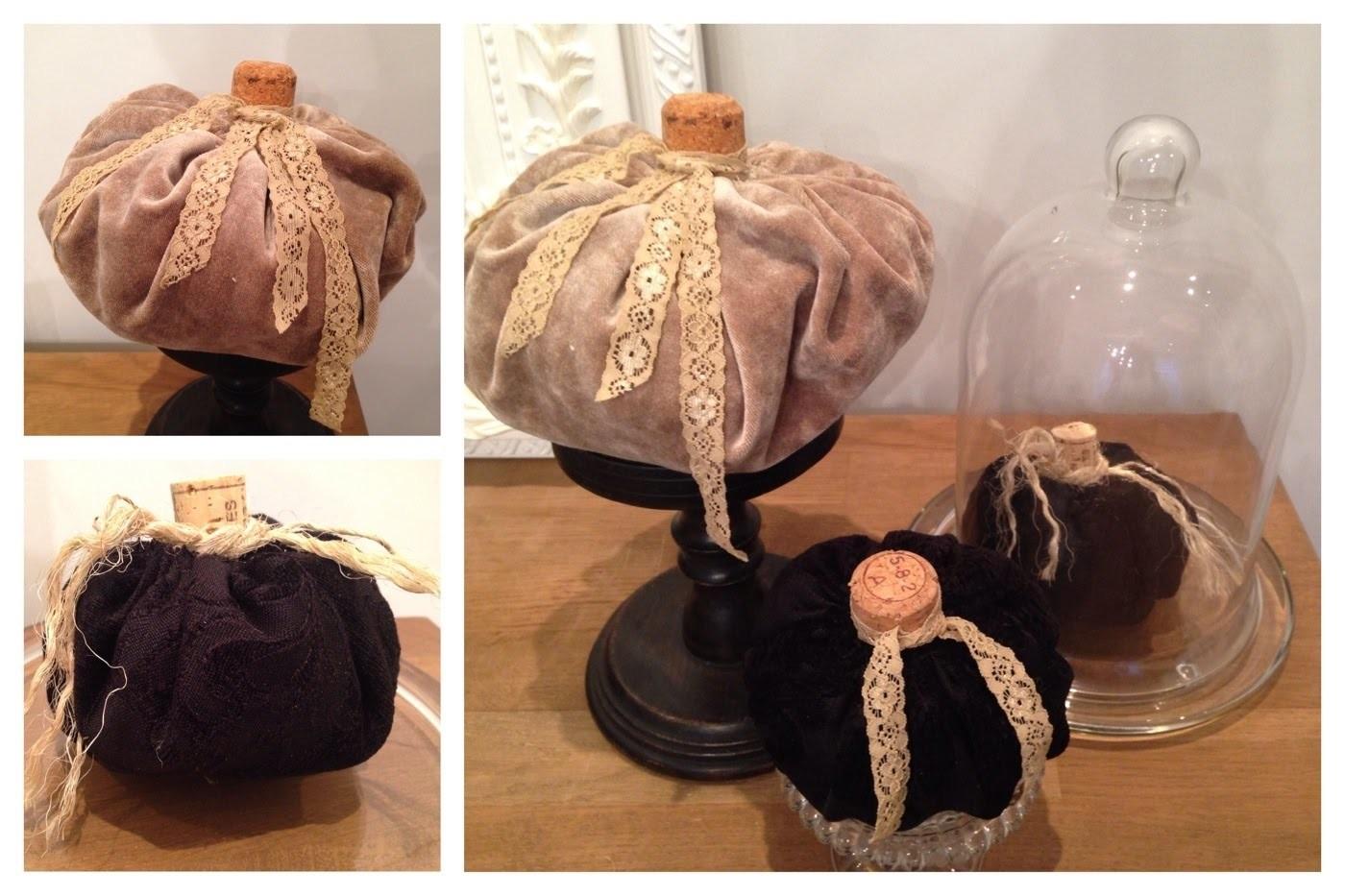 Diy-abóbora em tecido-decor para o outono