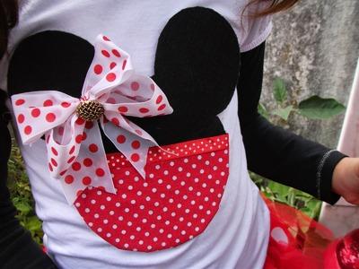 DIY: Faça voce mesma um T-Shirt Minnie Mouse ♥