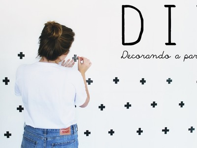 DIY: Parede Decorada Com Fita Isolante +
