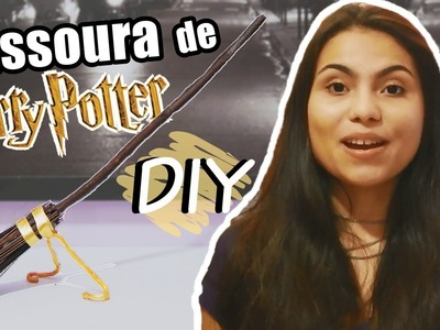 DIY: Vassoura de Harry Potter #Veda16 | Andressa Moraes
