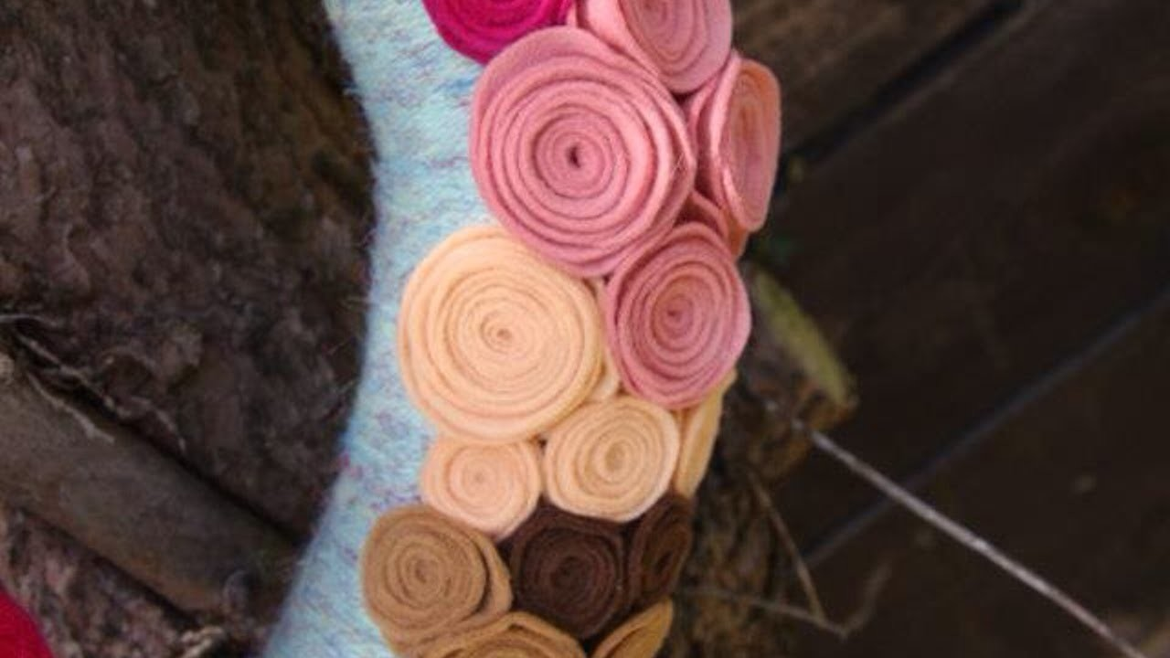 Faça Uma Flor de Feltro de Forma Simples  - Faça Você Mesmo Artesanato - Guidecentral