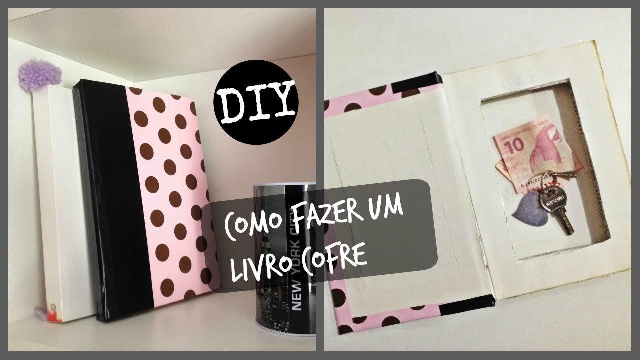 Como fazer um Livro Cofre.Porta Jóias super fácil  - DIY #façavocemesmo #inspire-se