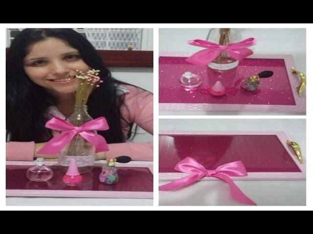 DIY: Bandeja.Quadro de EVA com glitter por Ana Paula Vieira