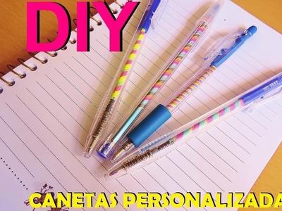 DIY caneta personalizada #voltaasaulas