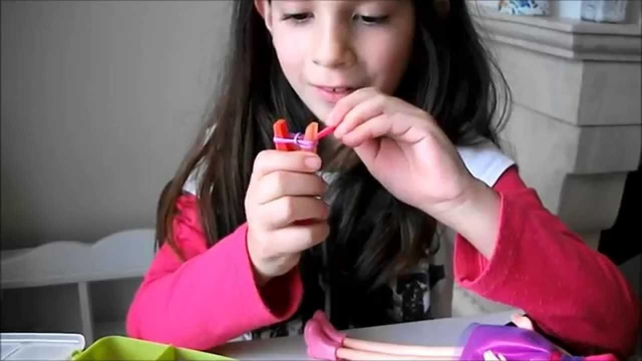 #Rainbow loom Como fazer um collar para boneca