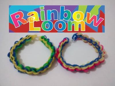 ♥ Rainbow Loom Nederlands ♥ Como fazer Pulseiras com elástico