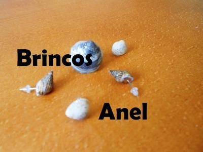 Tutorial Anel e brincos com conchas e búzios