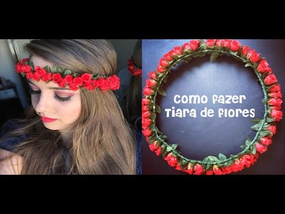 Como fazer tiara de flores (super fácil), por Raiane Sequeto