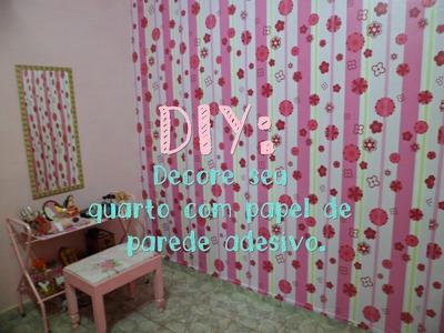 DIY: Decore seu quarto com papel de parede adesivo. HD.