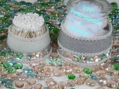 DIY | Porta algodão e cotonetes!