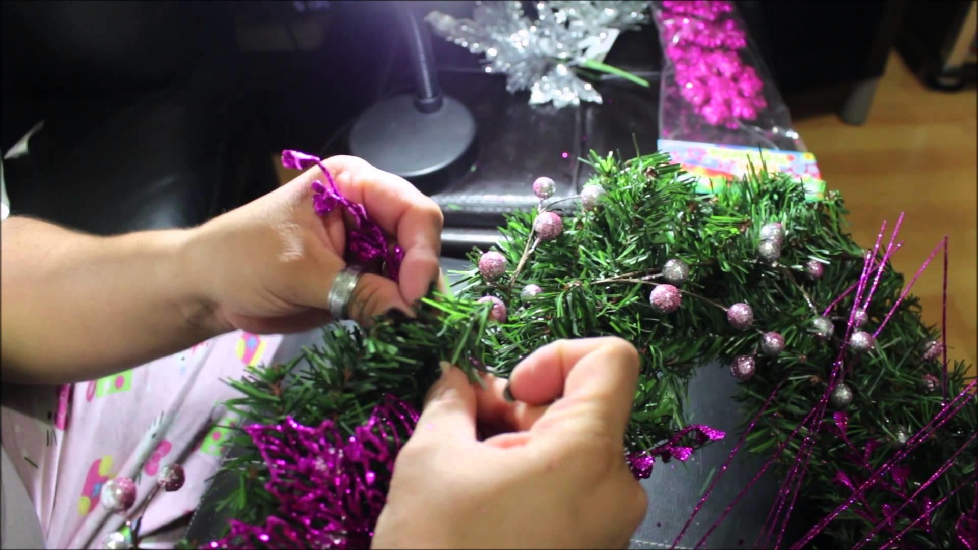 Faça você mesma sua decoração de natal para porta - DIY