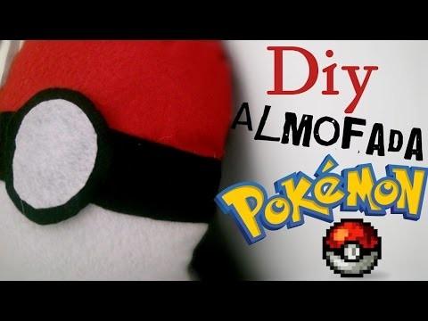 DIY.: Almofada Pokébola (sem costura)