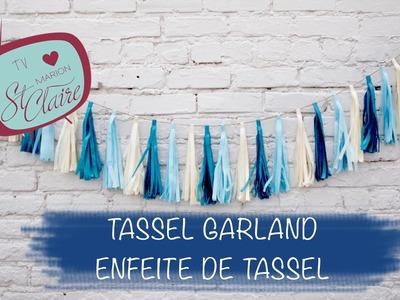 Como fazer: Tassel Garland - Pendão --- DIY --- Faça Você Mesma