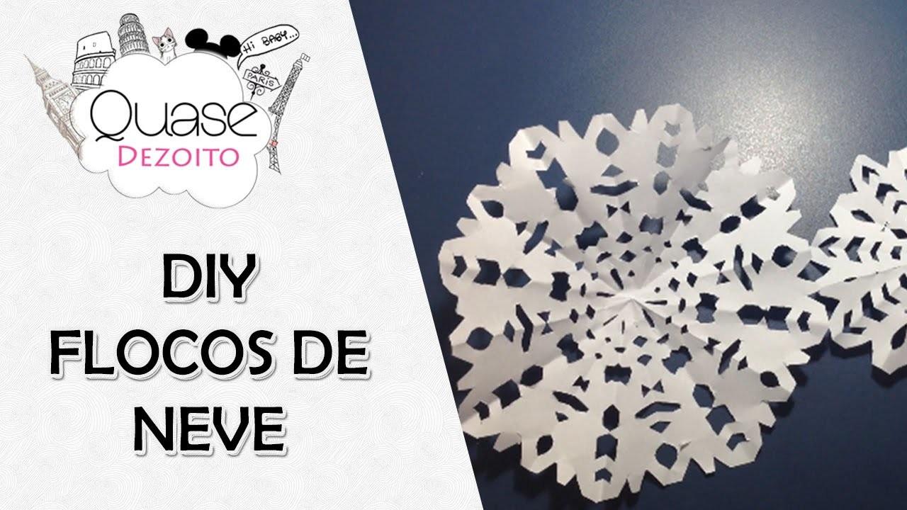 DIY de Natal - flocos de neve de papel