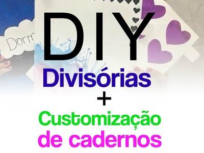 DIY: Divisórias de fichário e customização de cadernos | KCVA