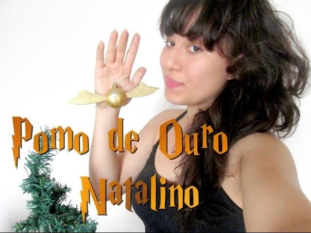 DIY - ENFEITE NATALINO DE POMO DE OURO (HARRY POTTER)