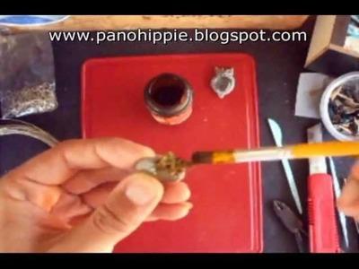 Como fazer pingente de coruja com durepoxi e pedra