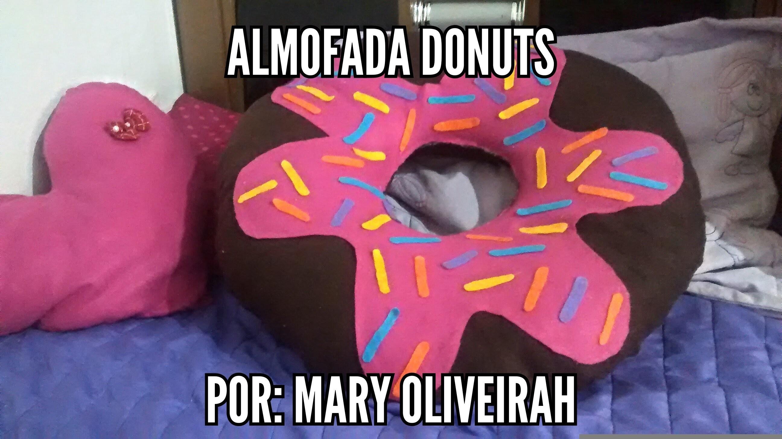Diy: Almofada de Donuts faça você mesma por Mary oliveirah
