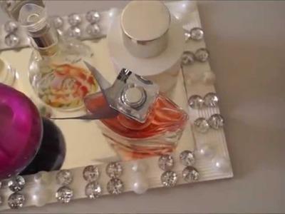 DIY Bandeja de espelho e Porta pincéis
