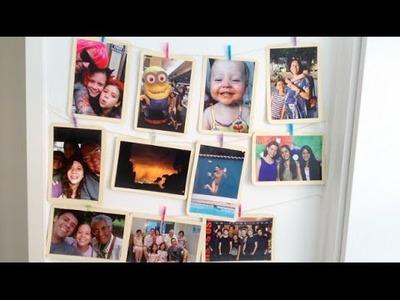 DIY - Como enfeitar seu quarto com fotos