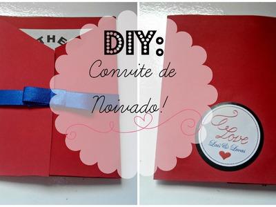 DIY: Convite de Noivado.Aniversário