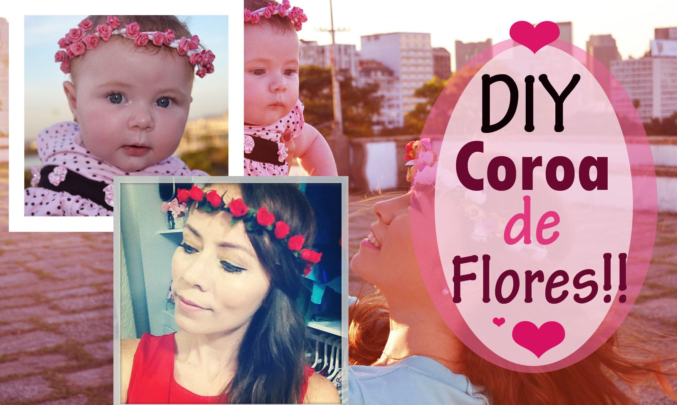 DIY: Coroa de flores fácil, rápido e sem mistério ♥