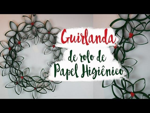 DIY Natal: Guirlanda de Material Reciclado fácil e baratinha