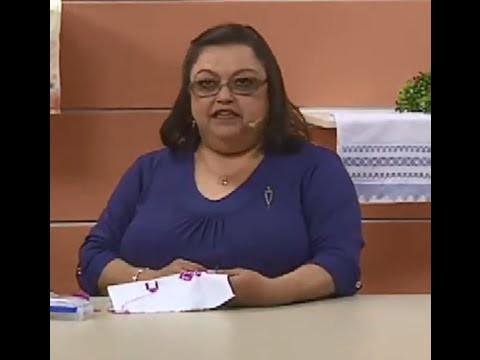 Toalha de Lavabo em Ponto Reto com Leila Jacob | Vitrine do Artesanato na TV