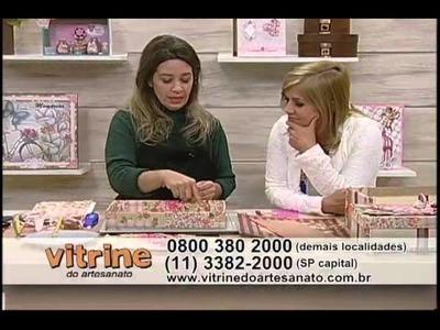 Caixas Artesanais - Francis Rangel - Vitrine do Artesanato na TV