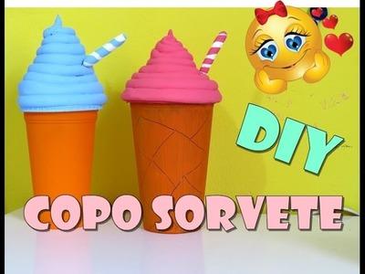 DIY Copo sorvete decorativo