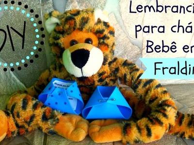 ✂ DIY: Lembrancinha de Chá de Bebê em Fraldinha (Fácil, Bonito e Barato) | By Luana Carolina