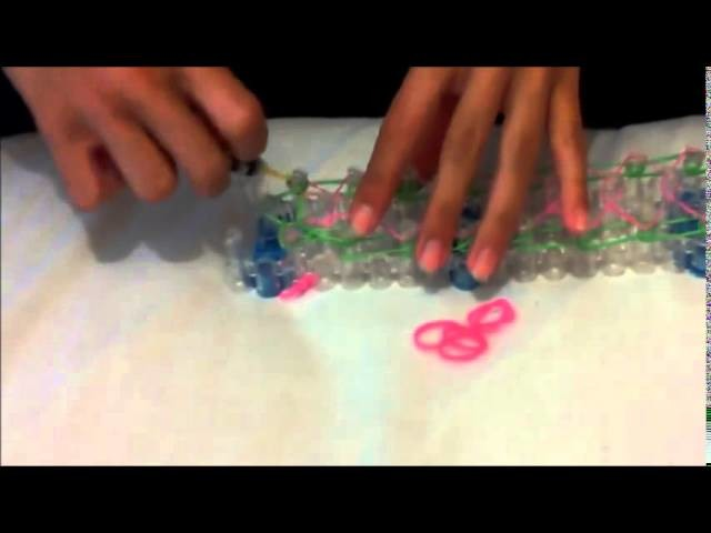 Rainbow loom - pulseira tripla