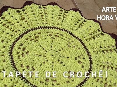 Fácil - Tapete de Crochê em Barbante, redondo - Arte e Artesanato. Passo a Passo