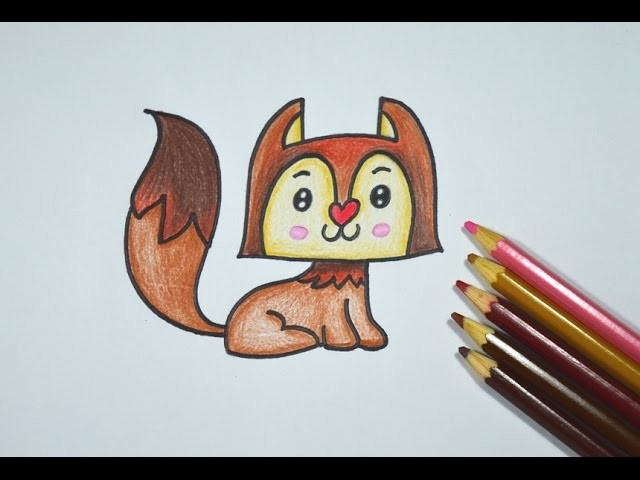 Como desenhar uma Raposa Kawaii - How to draw a Kawaii Fox