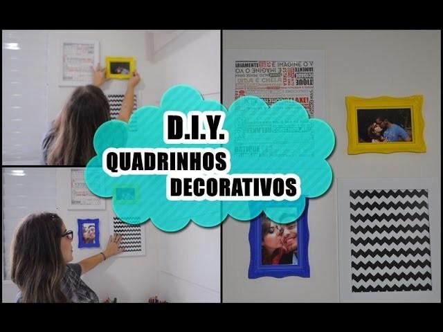 D.I.Y. - QUADRINHOS DECORATIVOS