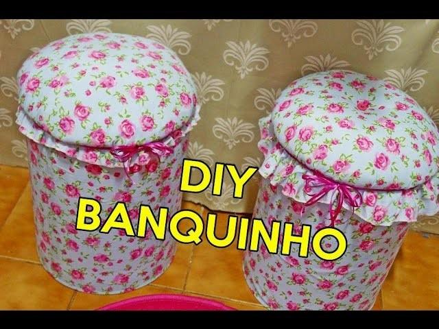 DIY BANQUINHO DE LATA DE ÓLEO